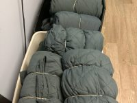 Sleeping bags for homeless people.