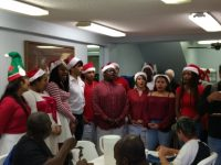Charity youth bible school choir sing for the charity.