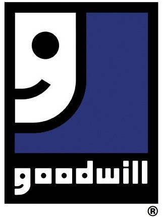 The logo of Goodwill, a non-profit organization that accepts clothing donations in Florida.
