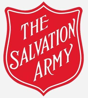 The logo of Salvation Army, a non-profit organization that accepts clothing donations in Florida.