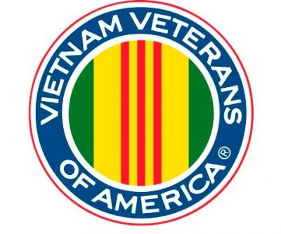 The logo of Vietnam Veterans of America, a non-profit organization that accepts clothing donations in Florida.