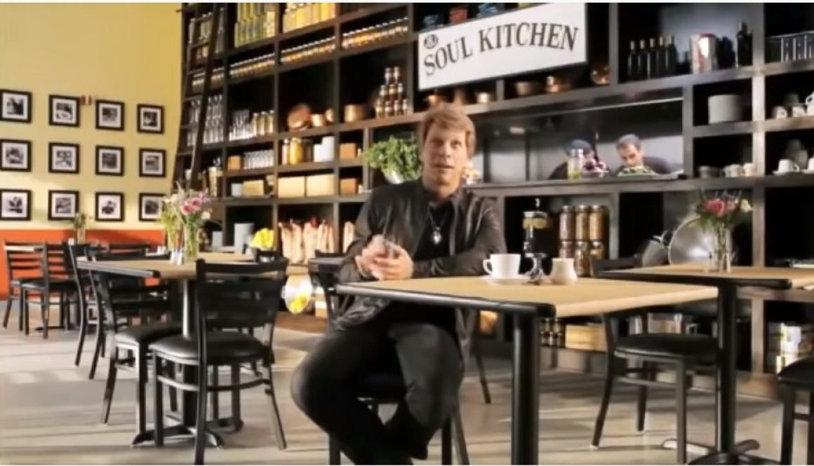 Celebrity rockstar Jon Bon Jovi talks about JBJ Soul Kitchen, a charity that helps feed the homeless.