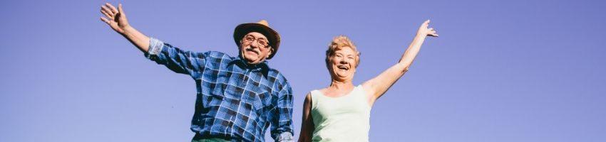 happy couple enjoying a good retirement life