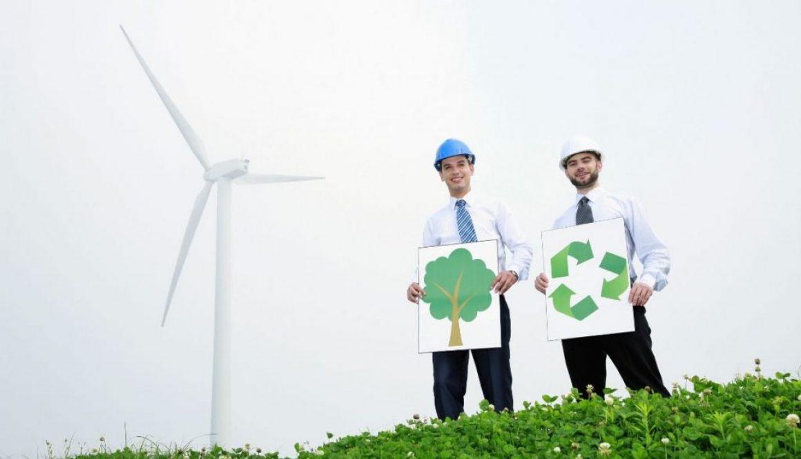 two members of environmental organization advocating a greener life
