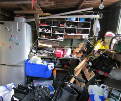 A house with too much cluttered stuff.