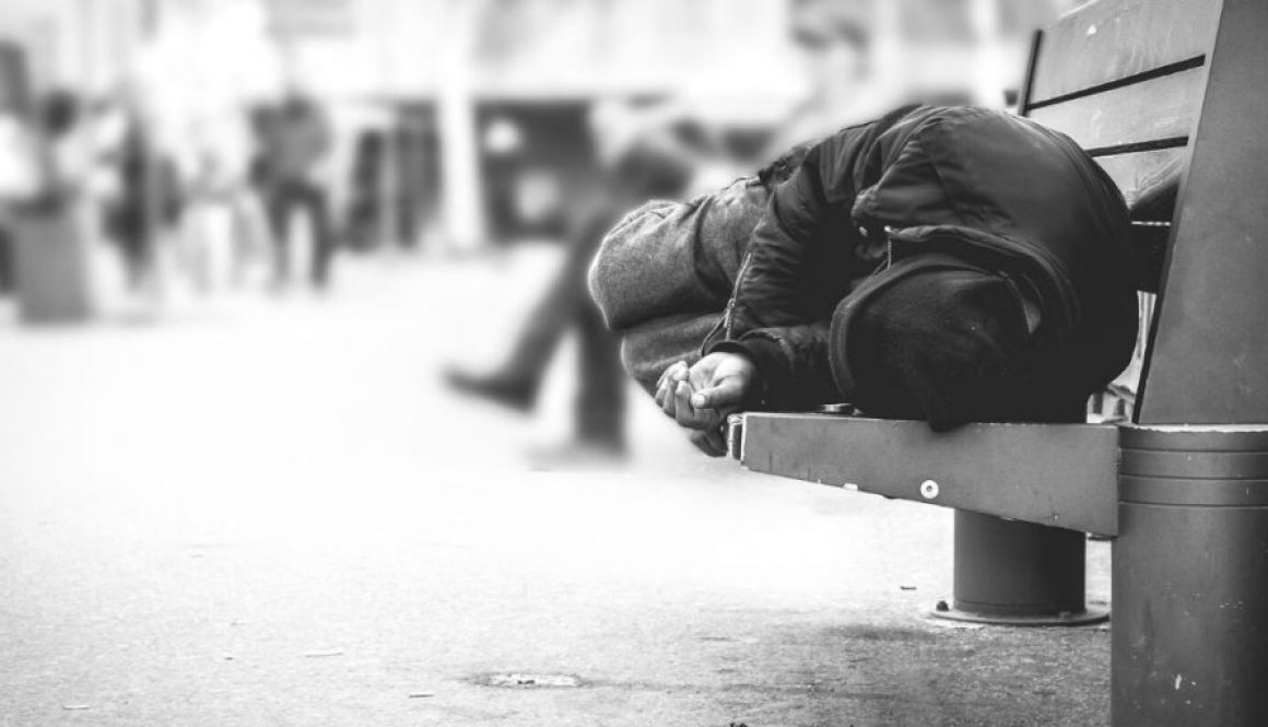 Homelessness affects society.