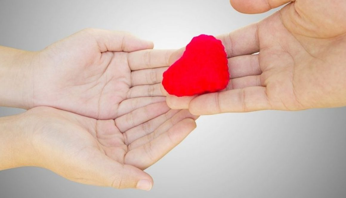Heart in Hand, symbolize love each other.
