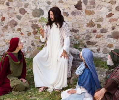 Jesus preaching to a group of talented people and telling what is the meaning of a parable talents