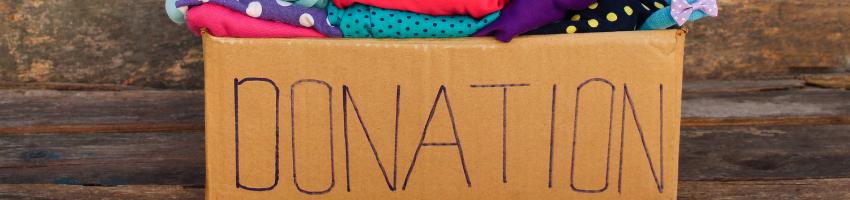 Donation words written inside the carton